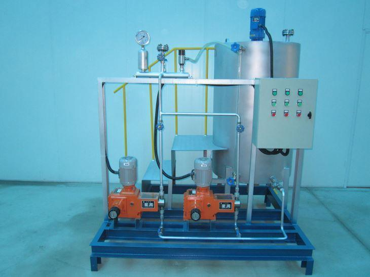 Plus ammonia dosing device